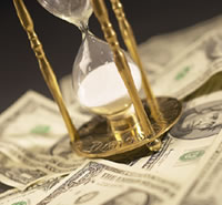 Picture of HourGlass and Money