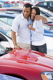 Man and Woman Car Shopping